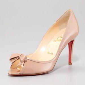 Christian Louboutin Milady Bow Peep Toe - size 37